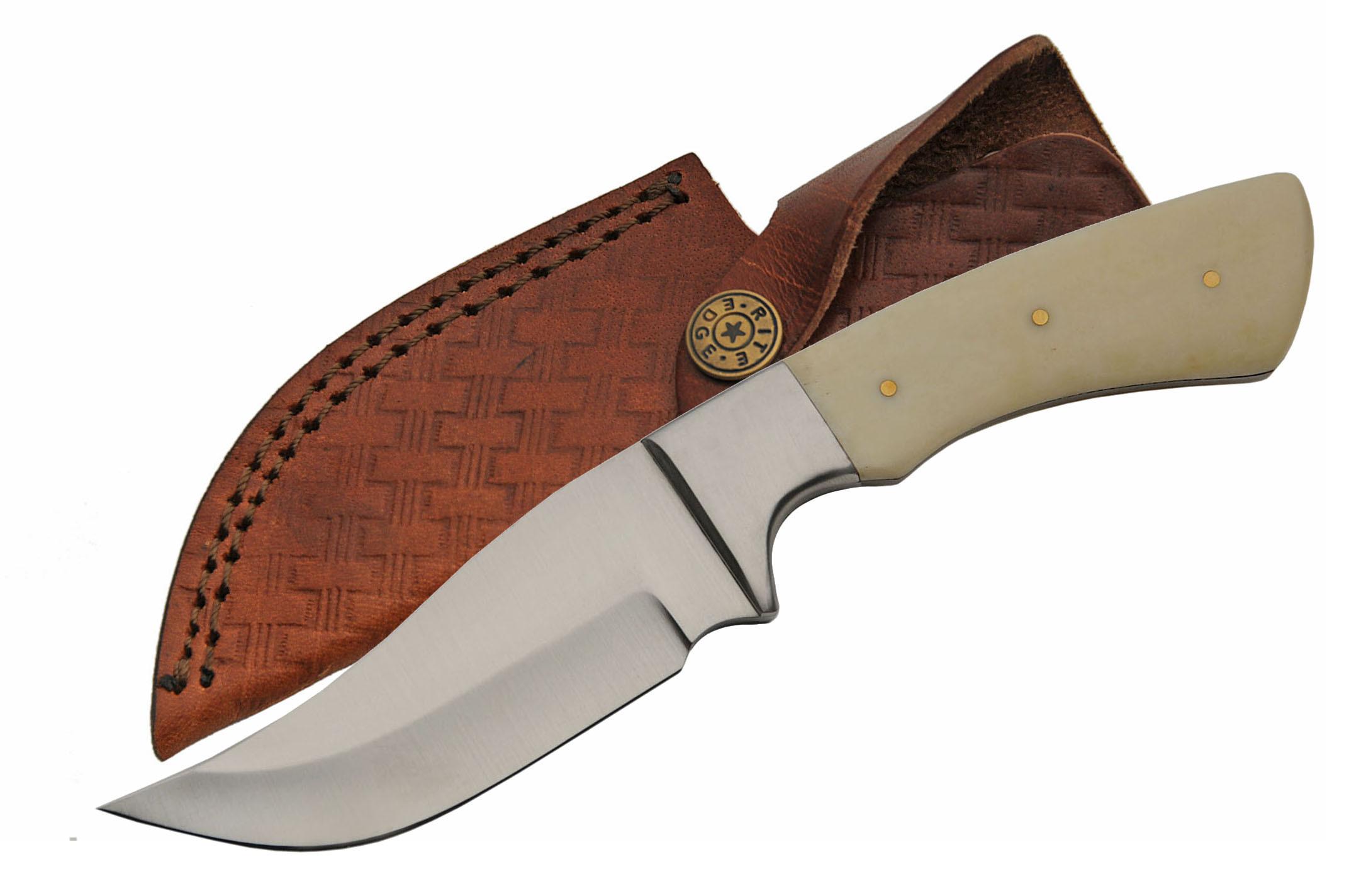 Hunting Knife Clip Point Skinner Blade Full Tang 8 25